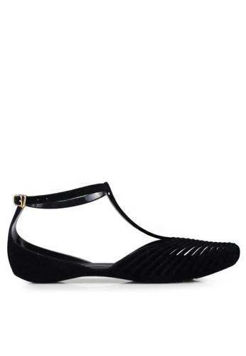 Twenty Eight Shoes 黑色 果凍矽膠平底雨鞋3003-1 B37CDSH08CC52FGS_1