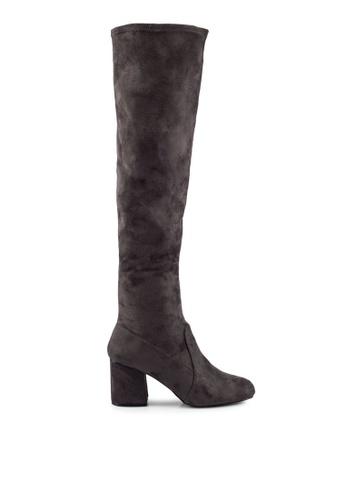 Miss Selfridge grey Kittie Black Over The Knee Boots MI665SH0RV29MY_1