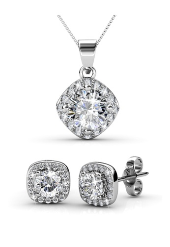 Her Jewellery silver Cushy Set with Premium Grade Crystals from Austria HE210AC45ENISG_1