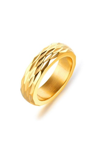 ADORA gold Stainless Steel Gold Ring 5641FAC05A3845GS_1