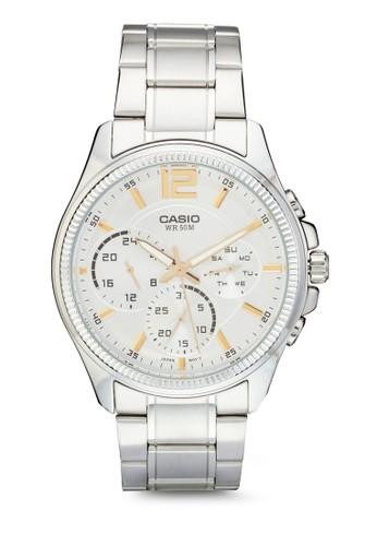 MTP-E305D-7A 三副錶盤不銹esprit童裝門市鋼手錶, 錶類, 飾品配件