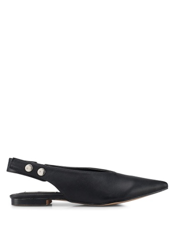Nose black Slingback Flats 300B3SH2366AFEGS_1