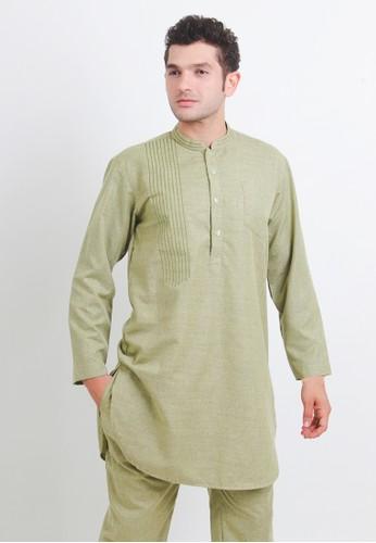 NextUp green Setelan Pakistan 1190 Bordir - Hijau Olive 63894AABA23441GS_1