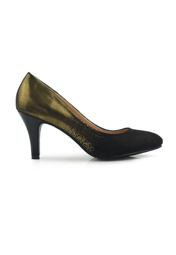 SHINE black Glitter Heel Pumps SH554SH0FDK4SG_1