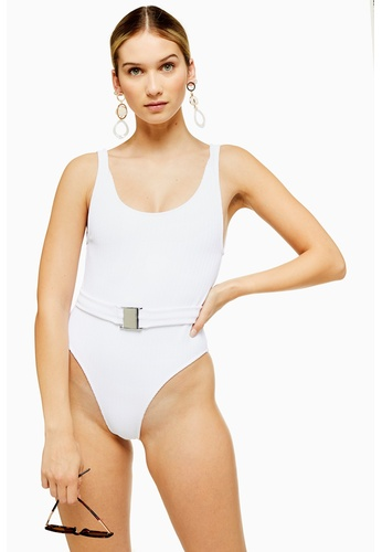 923eb2a926adf Shop TOPSHOP Crinkle Belted Swimsuit Online on ZALORA Philippines