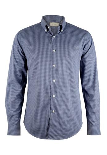 Gay Giano navy Slim Fit Button Down Dress Shirt 7045DAAB35E116GS_1
