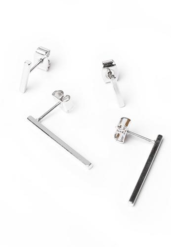 Gung Jewellery silver Sleek Bar Silver Earring 961FBACBF2E10BGS_1