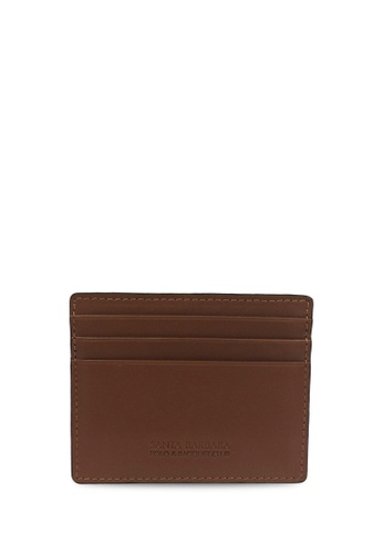Santa Barbara Polo & Racquet brown Santa Barbara Polo & Racquet Club Leather Cards Holder SA678AC0H96PSG_1