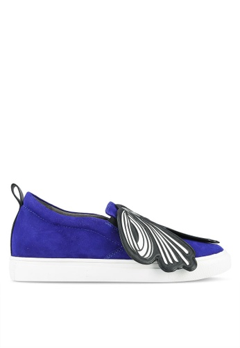 House of Avenues blue Slip Ons With Printed Ribbon Details HO685SH0RR9XMY_1