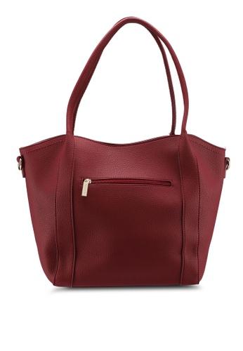 Shop Perllini Mel Faux Leather Double Handle Bag Online on ZALORA ... df95b211ac185
