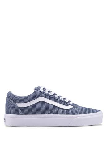 VANS blue Old Skool Jersey Sneakers VA142SH0SWTLMY_1