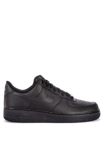 Nike black Men's Nike Air Force 1 '07 Shoes AFD23SH9478577GS_1