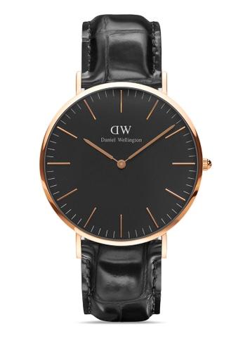 Daniel Wellington gold Classic Reading Black 40mm Rose Gold Watch CEDFBACDD67A7BGS_1