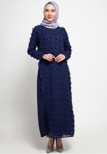 AZZAR navy Jane Maxi Dress in Navy 3D40DAA0D94503GS_1