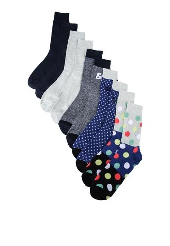 Jack & Jones grey Blueish Socks 5 Packs DB639AA827DF47GS_1