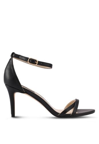 ZALORA black Double Front Strap High Heels 3C398SHE39CAA0GS_1