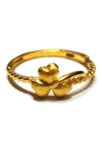 LITZ gold LITZ JINXI 999 (24K) Gold Flower Ring ADD6EAC67CF7C2GS_1