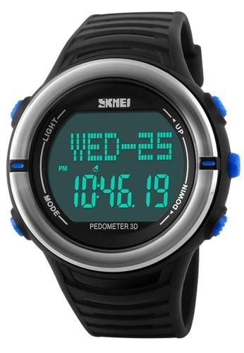 Digitec black Skmei Heart Monitor - Jam Tangan Pria - Black - Rubber Strap - 1111BLU DI108AC97AVIID_1