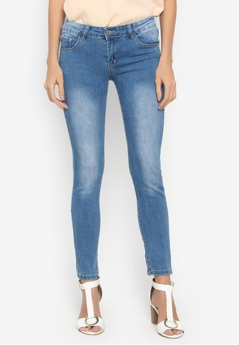 Balaynor blue Fashion Skinny Faded Denim Jeans A3AB4AA2F022AAGS_1