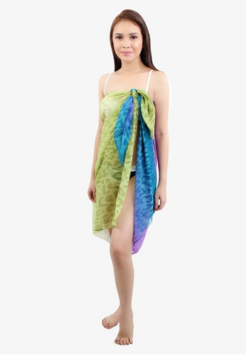 OOTD multi Colorful Leopard Sarong Wrap Around Cover up 471BDUS2A3DEDAGS_1