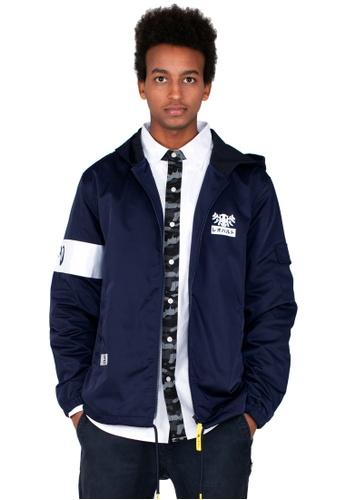 Reoparudo blue and navy RPD Zip Hoodie Jacket (Navy Blue) 6F104AAAA0EE0EGS_1