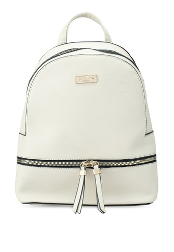 Unisa beige Saffiano Effect Backpack D0CACAC68208E8GS_1