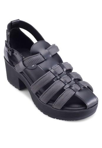 Piesprit 台中cabo 粗跟羅馬涼鞋, 女鞋, 鞋