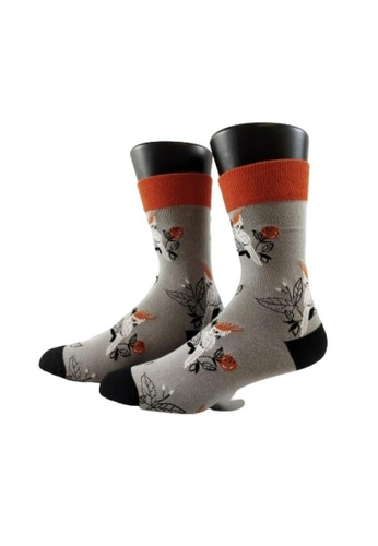 ShoeMafia black and brown Parrot Man Crew Socks 9814DAA23F64C2GS_1