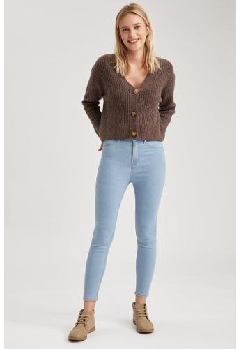 DeFacto blue High Waist Super Skinny Jeans 24EE5AAD07B3FEGS_1