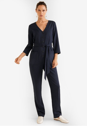 800d60d4bb1 Buy Mango Striped Long Jumpsuit Online on ZALORA Singapore