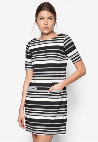 單色條紋運動風連身裙, esprit旗艦店服飾, 服飾