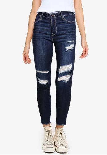 Hollister blue Knee Destroy Jeans 64285AACDA968EGS_1