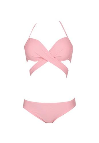 ZITIQUE pink Women's Sexy Bikini - Pink 9CE42US31FD010GS_1