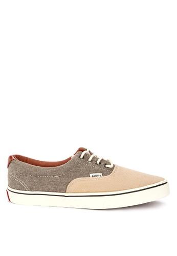 Andy Z grey Men's Lace-up Low-cut Sneakers 3D3A7SH9DA2D37GS_1
