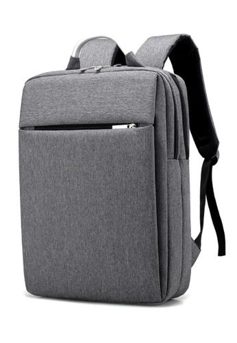 a110073f8051 Jackbox grey Korean Premium Stylish Professional Business Laptop Backpack  527 (Grey) JA762AC0S97BMY 1
