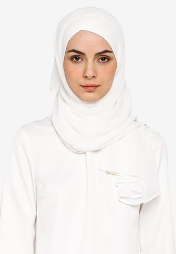 Bokitta white White FreeStyle Hijab 8456BAADD5033CGS_1