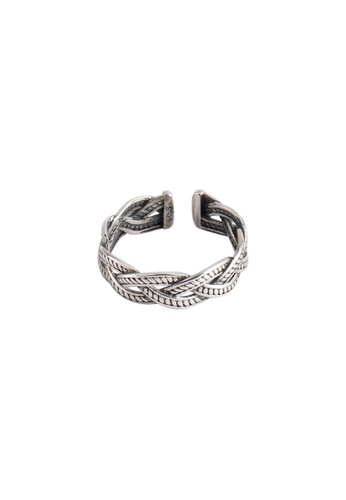 A-Excellence silver Premium S925 Sliver Twine Ring 0D83DAC7AA2014GS_1