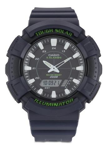 Casio purple Casio Solar Watch with Dark Purple Resin Band CA843AC91CRWMY_1