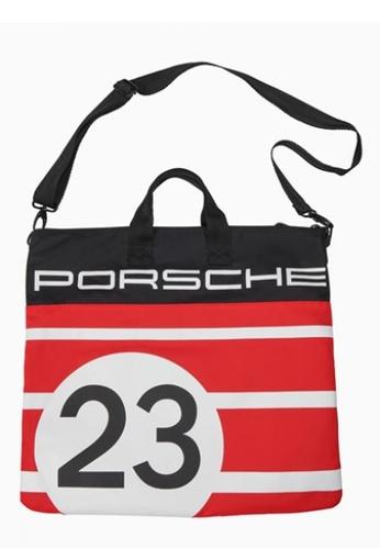 Porsche Driver's Selection black and white and red Tote Bag Porsche 917 Salzburg Black Red White 066F1ACA8E6165GS_1