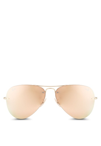 Ray-Ban gold RB3449 Sunglasses RA896GL22CXLMY_1