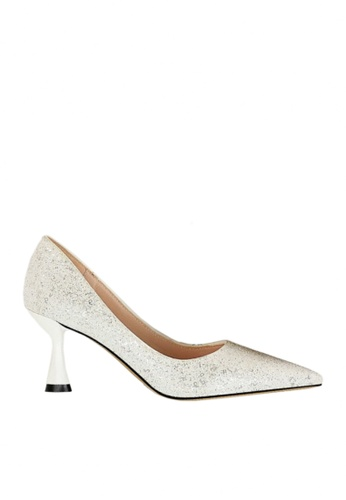 Twenty Eight Shoes 白色 雙色閃片晚裝及新娘鞋 VP12662 7FB5ESH82FC9F1GS_1