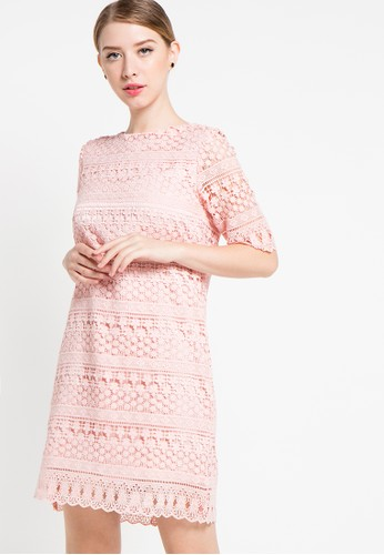 EDITION pink Lace Dress ED101AA22DVDID_1