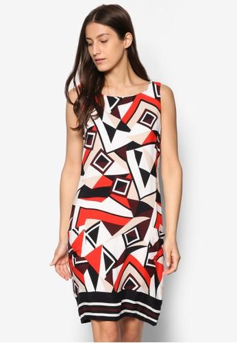 印花無袖連身裙, 服飾,esprit hk分店 洋裝