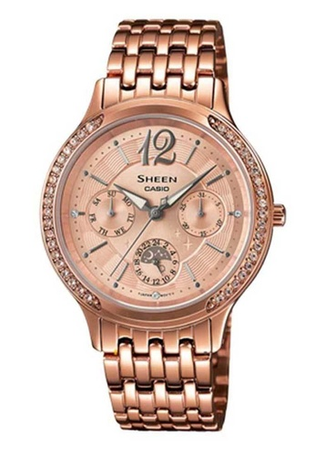 CASIO pink Casio Sheen Rose Gold Stainless Steel Watch AC4C6ACF9B8F74GS_1