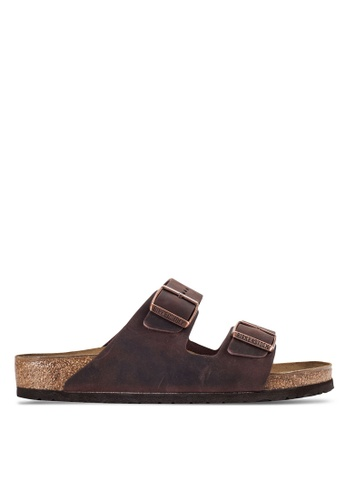 Birkenstock brown Arizona Sandals BI090SH92JPNMY_1