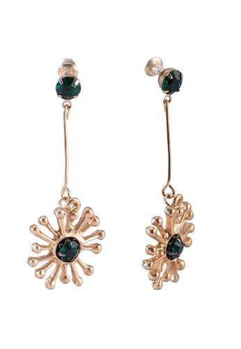 Red's Revenge green Emerald Gleam Dangle Earrings C98BCAC66E7C40GS_1