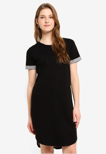 JACQUELINE DE YONG black Ivy Life Short Sleeve Dress 261E6AA002D878GS_1