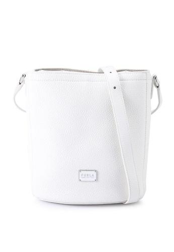 Furla white Drawstring Bucket Bag 83018AC65281B1GS_1