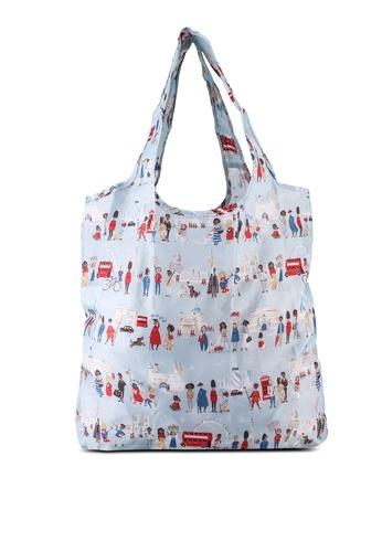 Cath Kidston blue London People Foldaway Shopper Bag E2355AC0F1F749GS_1