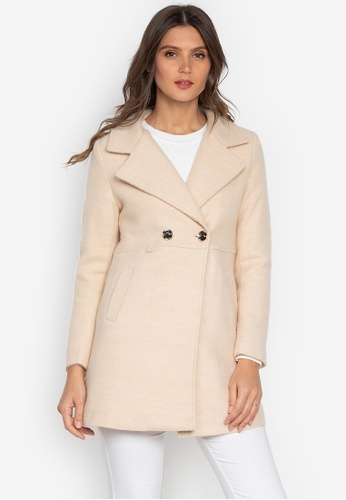 Well Suited beige Wool Short Trench Coat 9FA11AA23FA56DGS_1
